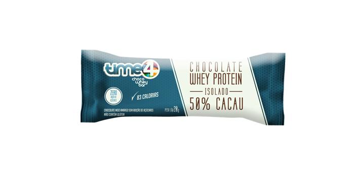 Choco Whey Bar: o novo chocolate proteico da Time4!
