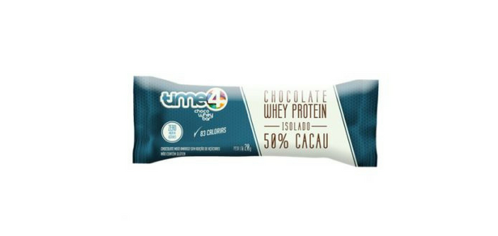 Time 4 Choco Whey Bar coma chocolate sem sair da dieta