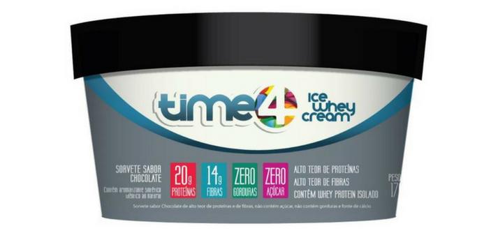 Time 4 3 sabores campeões de sorvetes de whey protein TIME4
