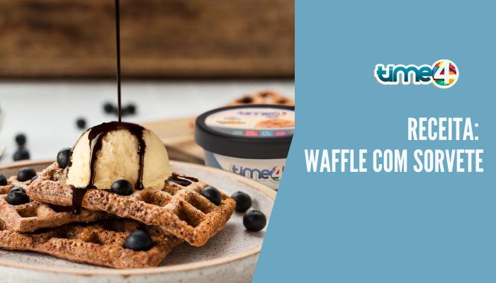Receita: Waffle com sorvete