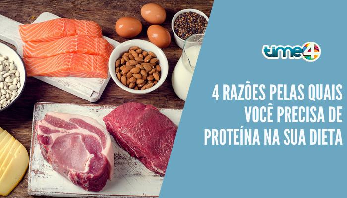 4 razões pelas quais você precisa de proteína na sua dieta