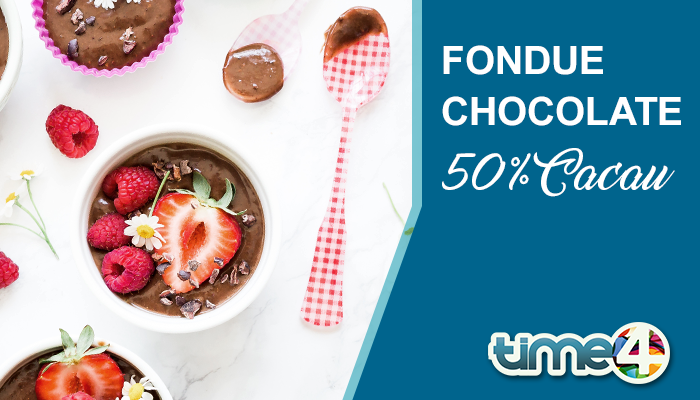 Sobremesa Low Carb: Fondue Chocolate 50% Cacau
