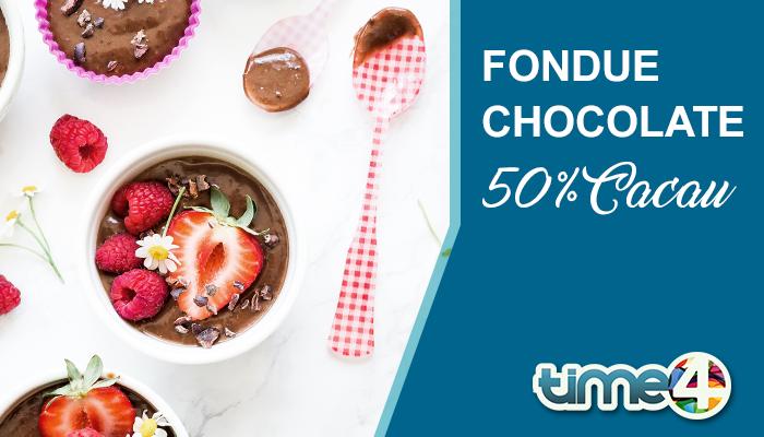 Sobremesa Low Carb: Fondue Chocolate 50% Cacau