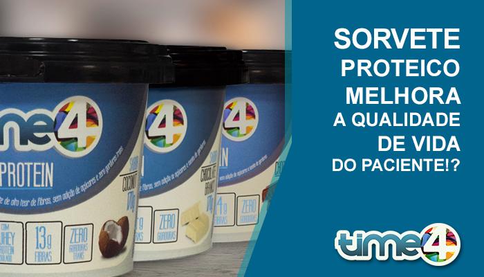 Sorvete proteico melhora a qualidade de vida do paciente!