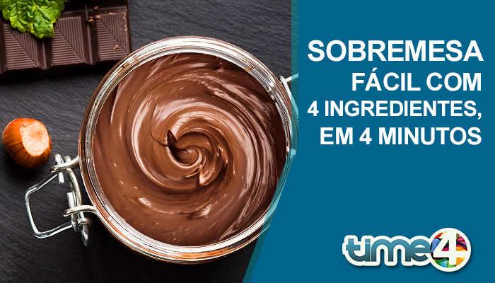 SOBREMESA FÁCIL COM 4 INGREDIENTES, EM 4 MINUTOS.